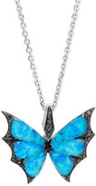Stephen Webster Fly By Night Opalescent Quartz Bat-Moth Pendant Necklace