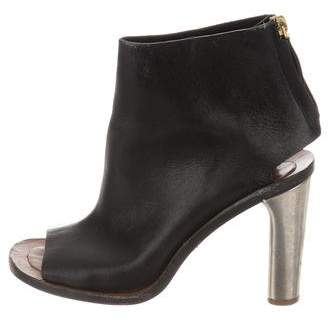 Celine Leather Cutout Booties