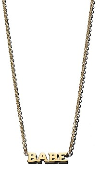 Zoë Chicco 14K Yellow Gold Itty Bitty Babe Necklace, 16