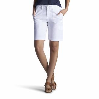 Lee Uniforms Lee Women's Relaxed-Fit Avey Knit Waist Cargo Bermuda Short