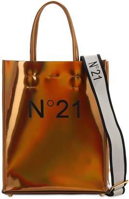N°21 Small Logo Printed Pvc Shopping Bag