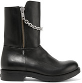 Karl Lagerfeld Chain-trimmed leather boots