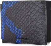 Lanvin Black Embossed Luxury Bi-colour Python-embossed Leather Wallet