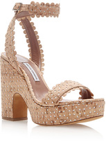 Tabitha Simmons Harlow Perforated Cork Platform Sandals