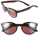Maui Jim Women's 'Keanae' 49Mm Sunglasses - Black And Grey Tortoise/ Grey
