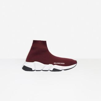 Balenciaga Speed Sneaker in burgundy knit