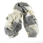Black Hanover Merino Wool and Silk Scarf