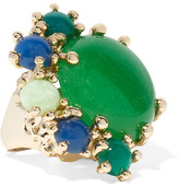 Rosantica Eden Gold-tone Quartz Ring - Green