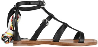 Prada Saffiano Leather Sandals