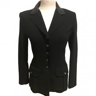 Herve Leger Black Wool Jacket for Women Vintage