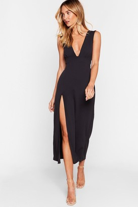Nasty Gal Womens Deep On Dancing Midi Dress - Black - 12