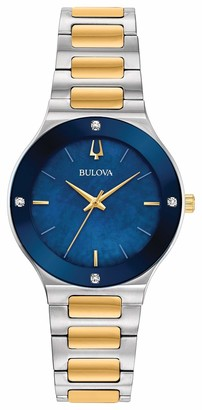 Bulova Womens Analogue Quartz Watch with Stainless Steel Strap 98R273