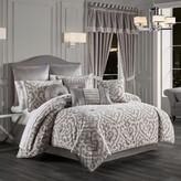 Thumbnail for your product : J Queen New York Belvedere 4-Piece Queen Comforter Set in Silver