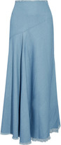 Marques Almeida Marques' Almeida Frayed stretch-denim maxi skirt