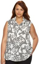 Apt. 9 Plus Size Popover Blouse Tank Top