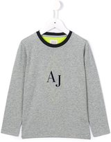 Armani Junior logo print T-shirt