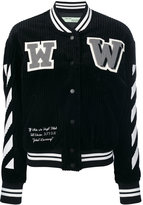 Off-White varsity jacket - women - Cotton/Acrylic/Polyester/Wool - 42