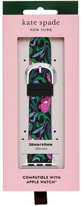 Kate Spade Apple Black Floral Watch Strap