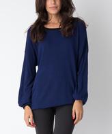 Yuka Paris Indigo & Black Mia Long Sweater