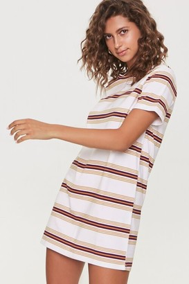 Forever 21 Striped Crew T-Shirt Dress