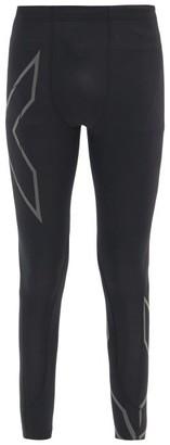 2XU Reflective-logo Compression Running Leggings - Black