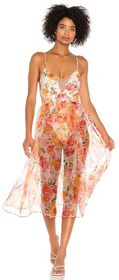 For Love & Lemons Peony Maxi Dress