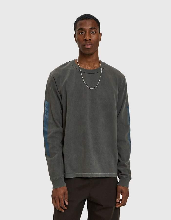 Yeezy Calabasas Long Sleeve T-Shirt in Core Grey/Indigo