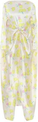 BERNADETTE Floral stretch-silk satin dress