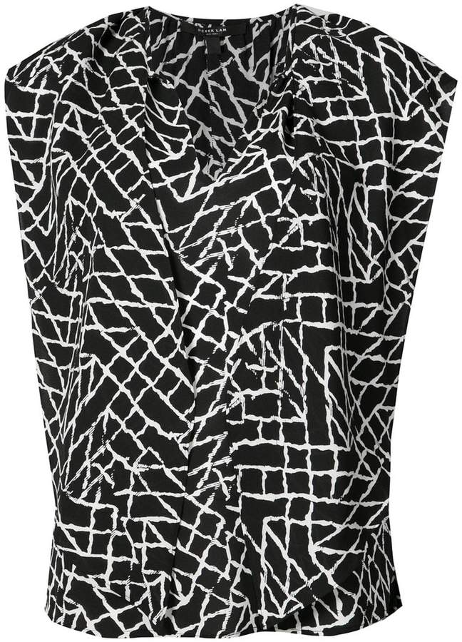 Derek Lam Sleeveless Scarf Neck Top
