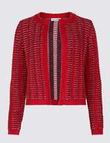 Marks and Spencer Textured Stitch Detail Chunky Cardigan