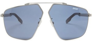 Dior Homme Sunglasses - Aviator Metal Sunglasses - Grey