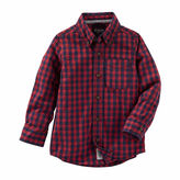 Osh Kosh Oshkosh Boys Long Sleeve Button-Front Shirt