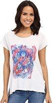 Lucky Brand Women's Multi Color Buddah T-Shirt