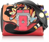 Paula Cademartori Kate Multicolor Leather Crossbody Bag W/Pearl