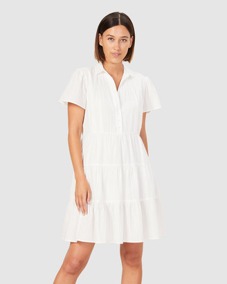 French Connection Women's Dresses - Tiered Cotton Dress - Size One Size, 12 at The Iconic