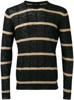 Roberto Collina striped ribbed sweater
