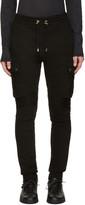 Balmain Black Cargo Lounge Pants