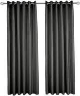 Very Made to Measure Faux Silk Eyelet Curtains – Black