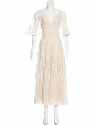 Christian Dior 2018 Eyelet-Trim Sheer Dress w/ Tags