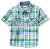 Levi's Baby Boys 12-24 Months Seacliff Short-Sleeve Plaid Woven Shirt