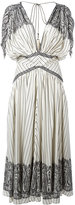 Etro stripe and paisley midi dress - women - Silk/Polyester/Acetate - 42