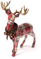 Trimsetter Plaid Tidings Standing Deer Figurine