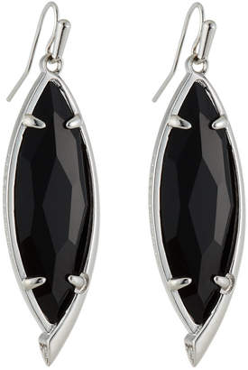 Kendra Scott Maxwell Statement Drop Earrings, Black Glass