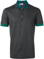 Brioni contrast trim polo - men - Cotton - M
