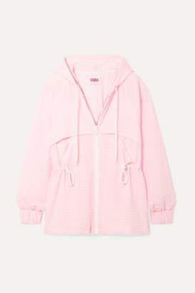 Solid & Striped Checked Seersucker Jacket - Pastel pink