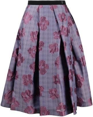 Comme des Garcons Plaid Floral Skirt