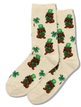 Hot Sox Women's Irish Pup Crew Socks