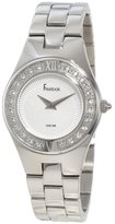 Freelook Women's HA2082-4A Silver Band Silver Face Swarovski Bezel Watch