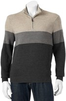 Dockers Men's Classic-Fit Colorblock Comfort Touch Quarter-Zip Sweater