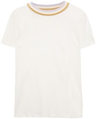 Zimmermann Striped Linen And Cotton-blend Jersey T-shirt